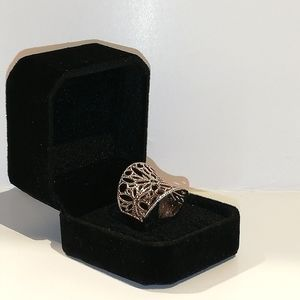 Rose Gold plated ring - 925 sterling silver